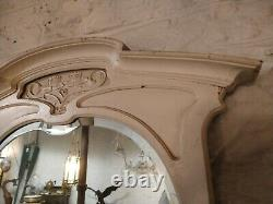 Large antique Art Nouveau wall mirror excellen in original condition by the time