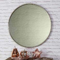 Large gold round vintage wall mirror circle living room hallway bedroom vanity