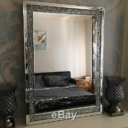 Large jewel mirror GIRLS ROOM crushed jewel diamante wall mirror BED BATH MIRROR