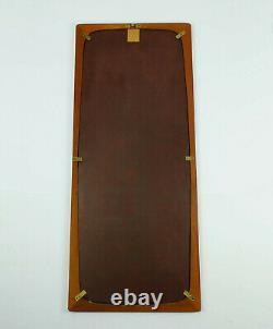 Large rectangular danish modern WALL MIRROR with teak frame 1960s