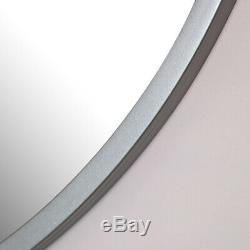 Large round silver wall mirror vintage living room hallway home decor display