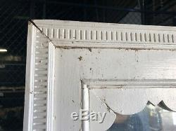 Large vintage Quartersawn oak wall mirror frame 73 x 36.5 glass = 58 x 29