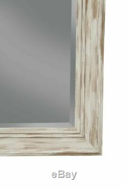 Leaning Mirror Farmhouse Leaner Shabby Chic Country Rustic Wall Mounted Large