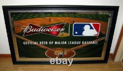 MLB Budweiser Beer Baseball Large Mirror Wall Sign
