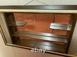 Mid Century Modern Retro Large Shadow Box Display Wall Mirror Shelf 4x2