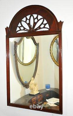 Mirror Large Decorative Mahogany Wood