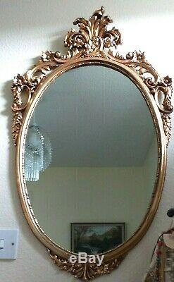 Mirror Ormolu Large Ornate Mirror Oval Early 20th Century Lovely Design