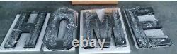 Mirrored Diamond LARGE HOME Letters Crushed Crystal Diamond Wall Art