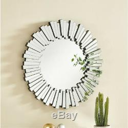 Modern Contemporary 39 Large Round Wall Mirror Bedroom Bathroom Dining Room
