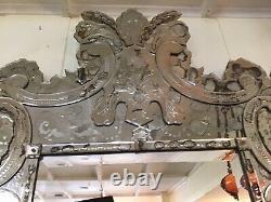 Monumental Museum Quality Venetian Hand Cut Beveled Glass Mirror Circa 1900