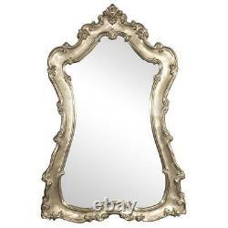 NEW DESIGNER GRAND LARGE 89 ORNATE SCROLL SILVER LEAF BAROQUE WALL FLOOR Mirror