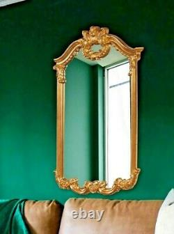 NEW DESIGNER large FRENCH ARCH 51 ORNATE SCROL GOLD Wall Mirror