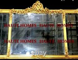 NEW FRENCH ESTATE ORNATE LARGE 54 GOLD Floral buffet Wall MANTEL Mirror