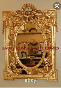 NEW FRENCH ORNATE REGENCY LARGE 36.5 GOLD Floral Wreath Wall VANITY Mirror