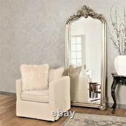 NEW FRENCH VICTORIAN ORNATE Scroll LARGE 85 SILVER Leaf Wall Floor Mirror