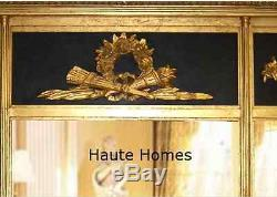 NEW HORCHOW FRENCH Large 65 ORNATE ROYAL BLACK / GOLD GILDED WALL BUFFET Mirror