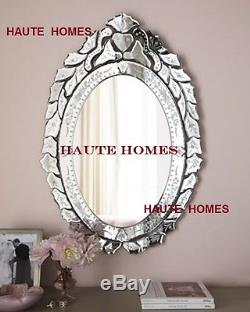 NEW HORCHOW LARGE 30 VENETIAN ETCH ENGRAVE FRAME Wall Vanity OVAL Mirror