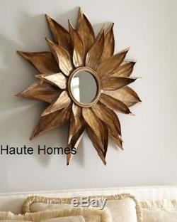NEW HORCHOW LARGE 36 SUN BURST STAR BURST GOLD METAL FRAME WALL Mirror