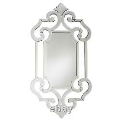 NEW Horchow LARGE 41 VENETIAN ETCH ENGRAVE ORNATE FRAME Wall Vanity Mirror