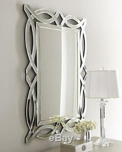 NEW Horchow LARGE 42 ARCH MODERN VENETIAN Wall Vanity Beveled Mirror