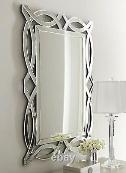 NEW Horchow LARGE MODERN Farmhouse VENETIAN Wall Vanity Beveled Mirror