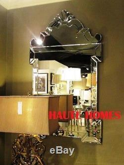 NEW LARGE 45 VENETIAN ETCH ORNATE MODERN SCROLL WALL VANITY BEVEL Mirror