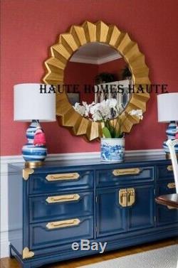NEW LARGE 47 SUN BURST STAR BURST GOLD METAL FRAME BEVELED WALL Mirror