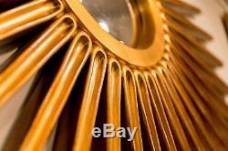 NEW LARGE 54 STUNNING GOLD SUNBURST STARBURST WALL Mirror Horchow