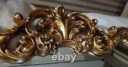 NEW Ornate French Scroll Large 39 x 27 GOLD Wall Buffet Mirror Howard Elliott