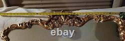 NEW Ornate French Scroll Large 39 x 27 GOLD Wall Buffet Mirror Howard Elliott