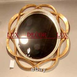 NEW STUNNING LARGE 36 OVAL SILVER GOLD WALL VANITY BUFFET BEVEL Mirror