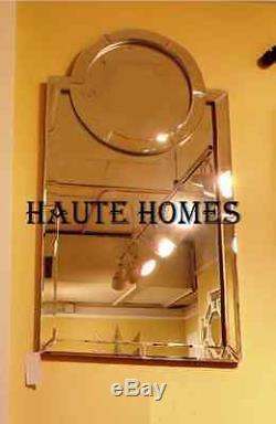 NEW STUNNING LARGE 44H MONOGRAMMED VENETIAN MODERN BEVELED Wall Vanity Mirror