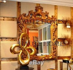 NEW STUNNING LARGE 56 VICTORIAN BEVEL Scroll ORNATE Wall VANITY Mirror Gold