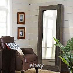 NeuType Rustic Full Length Mirror Vintage Wood Framed Dressing Mirror Large Wall