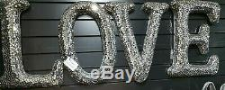 New, BLING, Mirrored Mosaic, Large LOVE Letters, Wall Hanging, Statement Piece