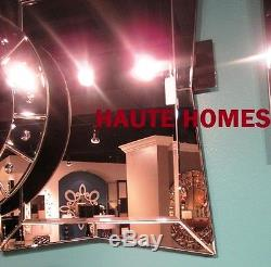 New LARGE 32 VENETIAN ETCHED ARCH MODERN WALL VANITY BEVEL VENETIAN Mirror