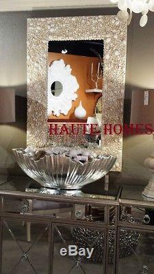 New Stunning Coastal Cottage White Sea Shell 48 Large Vanity Wall Mirror