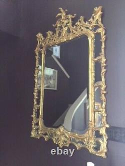 Ornate LARGE Gold Beveled Mirror- over 5 ft. Ht