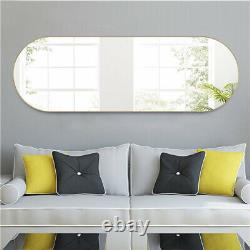 Oval Full Length Floor Mirror Wall-mounted Hanging Leaning Bedroom Living Room