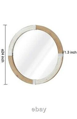 Oval Mirror 24 Decorative wall mirror, Wall Hanging Mirror, Large Wooden Frame