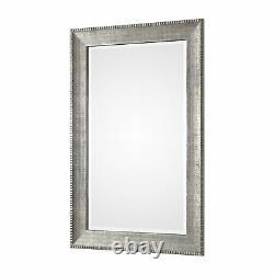 Oversize Modern Silver 59 Wall Mirror Textured Metallic Extra Large