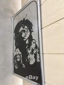 RARE FARRAH FAWCETT LARGE SIZE WALL MIRROR, ALL CHROME! 70'S WILD n CRAZY