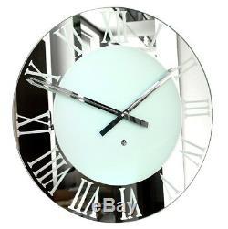 Roco Verre Roman Frosted Wall Clock