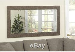 Rustic Large Wall Mirror Floor Leaning Standing Full Length Beveled Glass Iron
