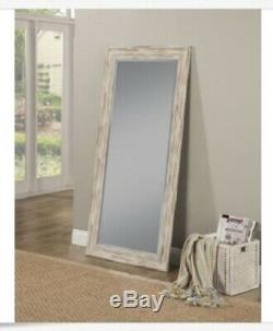 Rustic Vanity Mirror Bathroom Wood White Wash Coastal Decor Wall Farmhouse Large