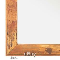 Rustic Wall Mirror Solid Wood Large Farmhouse Accent Decor Bath Vanity Rectangle