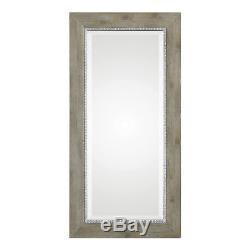 Rustic Weathered Wood Tall Wall Mirror 48 Extra Large Silver Distressed Vanity