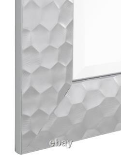 Silver Full Length Floor Mirror Wall Hang Leaner Large Beveled Bathroom Vanity