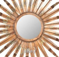 Sun Wall Mirror Copper Decorative Bronze Art Metal Sculpture Large Sunburst New