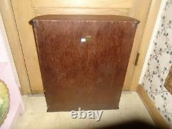 VINTAGE Bombay Co Curved Glass Curio Display Case Mirror Wall Cabinet LARGE